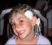 Adrianna Dill with Braids Age 7